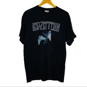 LED ZEPPELIN 2005 Hanes Black Band Tee Shirt mens